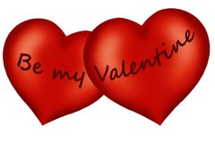 Innere des Valentinsgrußes Lizenzfreie Stockfotos