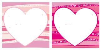 Innere des Valentinsgrußes stock abbildung