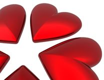 Innere des Valentinsgrußes 3D Lizenzfreie Stockfotos