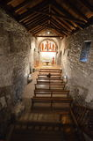 Innere Erill-La Vall-Kirche Stockfotografie