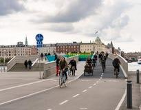 Innere Hafen-Brücke in Kopenhagen für Radfahrer und Fußgänger Stockfoto