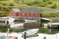 Innere Hafen Dreiheits-Bucht Neufundland lizenzfreie stockfotos