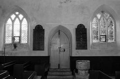 Innere Haupttür von gesegneten Jungfrau Maria in Somerset Lizenzfreie Stockfotos