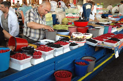 Innere im zentralen Yerevan-Markt, Armenien Lizenzfreies Stockfoto