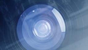 Innere Kameraanimation Wie Arbeit SLR-Kamera oder DSLR Objektiv für die Kamera wie Arbeitsmatrix der Kamera, wenn Fotos machen Si Lizenzfreie Stockfotos
