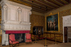 Innere Kammer in Chenonceau-Chateau Lizenzfreie Stockfotografie