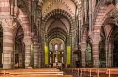 Innere Kathedrale Notre Dame des Heiligen Arnoux in Gap Lizenzfreies Stockfoto