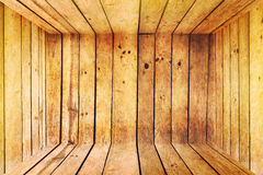 Innere leere Holzkiste Stockfotos