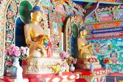 INNERE MONGOLEI, CHINA - 13. August 2015: Budda-Statuen bei fünf Pagod Stockbilder