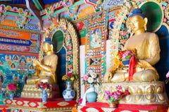 INNERE MONGOLEI, CHINA - 13. August 2015: Budda-Statuen bei fünf Pagod Lizenzfreies Stockbild
