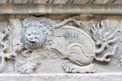 INNERE MONGOLEI, CHINA - 13. August 2015: Entlastung bei fünf Pagode Templ Stockfoto