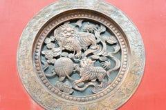 INNERE MONGOLEI, CHINA - 13. August 2015: Entlastung an Guanyin-Tempel A Lizenzfreie Stockbilder