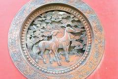 INNERE MONGOLEI, CHINA - 13. August 2015: Entlastung an Guanyin-Tempel A Stockfotografie