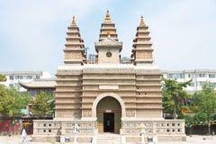 INNERE MONGOLEI, CHINA - 13. August 2015: Fünf Pagoden-Tempel (Wutasi) Lizenzfreies Stockbild