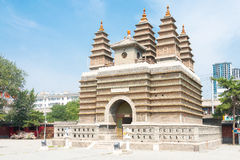INNERE MONGOLEI, CHINA - 13. August 2015: Fünf Pagoden-Tempel (Wutasi) Stockfoto