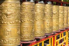 INNERE MONGOLEI, CHINA - 13. August 2015: Gebetsrad bei Xilitu Zhao Stockbilder
