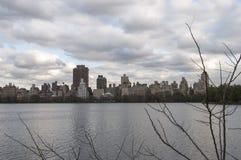Innere New- Yorkskyline angesehen vom Central Park Lizenzfreie Stockbilder