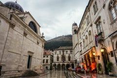 Innere Schloss-Wand der alten Stadt Dubrovnik, Kroatien stockbild