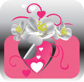 Innere und Blumen Lizenzfreie Stockfotos