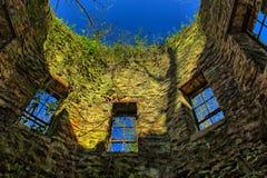 Innere Wand einer verlassenen Mühle Lizenzfreie Stockfotografie