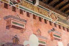 Innere Wand im herzoglichen Palast-Museum in Mantua Stockfotos