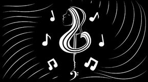 Innere Welt der Musik Stockbild