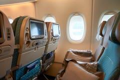 Innerer Airbus A380 Lizenzfreie Stockbilder
