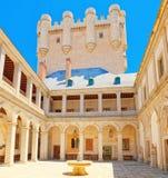 Innerer Alcazar von Segovia buchstäblich, Segovia-Festung ist ein cas Lizenzfreies Stockbild