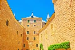 Innerer Alcazar von Segovia buchstäblich, Segovia-Festung ist ein cas Stockbild