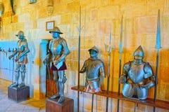 Innerer Alcazar von Segovia buchstäblich, Segovia-Festung ist ein cas Stockfotografie