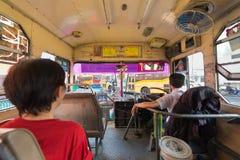 Innerer Bus in Bangkok Lizenzfreie Stockbilder
