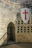 Innerer Coudray-Turm Festung Chinon frankreich lizenzfreie stockfotografie