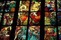 Innerer Fensteranstrich stockbild