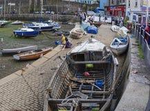 Innerer Hafenhafen Brixham Devon England Großbritannien Stockfotografie