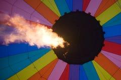 Innerer Heißluftballon Stockfotos