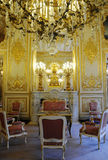 Innerer herrlicher königlicher Palast mit Kamin Stockfotografie
