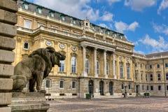 Innerer Hof des Buda Schlosses, Budapest Lizenzfreie Stockfotografie