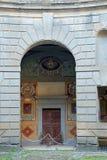 Innerer Hof Landhaus FarneseThe der Kreisform Stockbilder