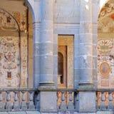 Innerer Hof Landhaus FarneseThe der Kreisform Stockfotografie