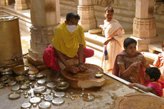 Innerer Jain Tempel Lizenzfreie Stockfotos
