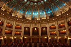 Innerer OperAthenaeum Lizenzfreie Stockbilder