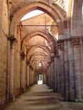 Innerer San Galgano lizenzfreie stockbilder