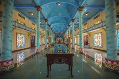 Innerer Tempel cao Dai Stockfotos