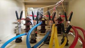 Innerer Terminalkabelkasten für Transformator, Isolierungsprüfvorrichtung stockfotografie
