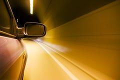 Innerer Tunnel der großen Geschwindigkeit stockfoto