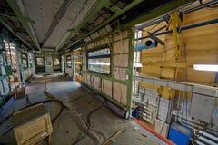 Innerer zusammenbauender Lastwagen in der Werkstatt Stockfotografie