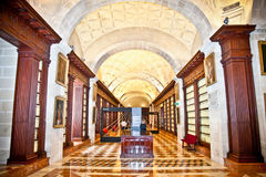 Inneres allgemeines Archiv der Inseln in Sevilla, Spanien. Lizenzfreie Stockfotos
