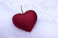 Inneres auf dem Schnee Valentinsgruß ` s Tag, Feiertag Stockbild