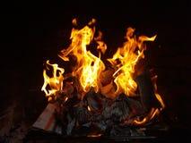 Inneres auf Feuer stockbilder