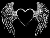 Inneres Auslegung f?r Valentinstag Getrennt auf schwarzem Hintergrund Auch im corel abgehobenen Betrag vektor abbildung